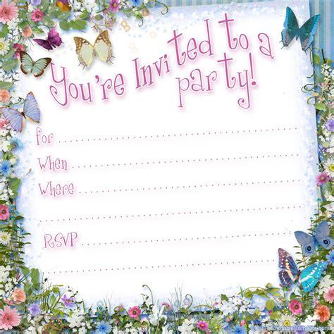 free birthday invitation templates free printable butterfly invitation template printable kits
