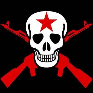 Clipart - Skull and crossed guns