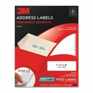 3m commercial ofc sup div address labelslaser paper1 1 With 3x4 labels