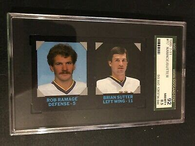 The credit card is issued for nhl lovers who wish to carry their nhl team with the benefits of discover it. 1985-86 7-Eleven Credit Cards #17 Rob Ramage and Brian Sutter SGC Graded 92 NHL   eBay