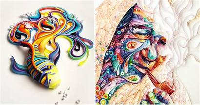 Paper Colored Illustrations Colorful Artist Russian Magazine