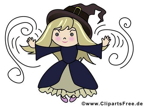 cartoon kleine hexe illustration zu halloween