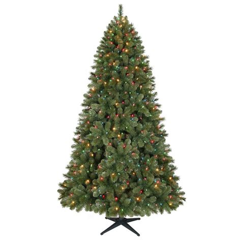 7 5 ft christmas tree with 1000 lights 7 5 ft wesley mixed spruce artificial christmas tree with