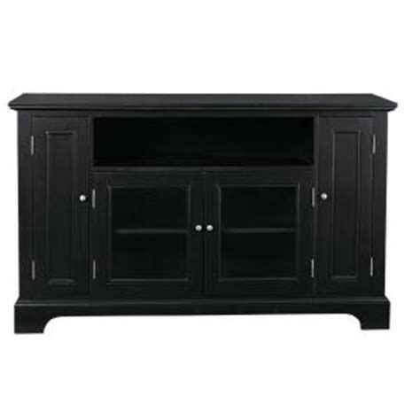 tv credenza black home styles bedford black tv credenza 5531 10 the home depot