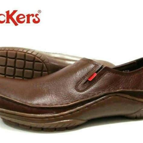 Sepatu Santai Kulit harga sepatu kulit pria kickers santai casual terlaris