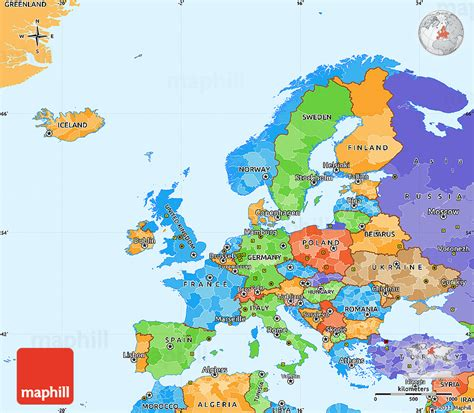 Europe Map Simple | Time Zone Map