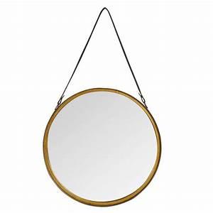 Miroir A Suspendre : miroir rond a suspendre id es de d coration int rieure french decor ~ Teatrodelosmanantiales.com Idées de Décoration
