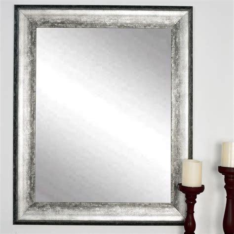 brandtworks kingston silver decorative framed wall mirror - Silver Wall Mirrors Decorative
