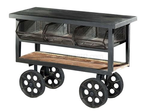 kitchen carts on wheels amara 6411 iron kitchen cart with wheels by homelegance