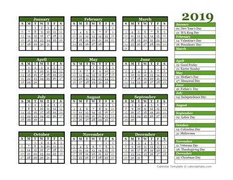 editable  yearly calendar landscape  printable