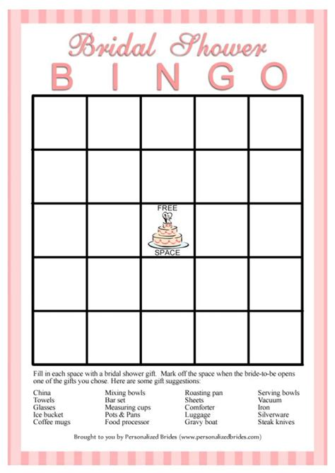bridal shower bingo template 11 free printable bridal showers bingo cards