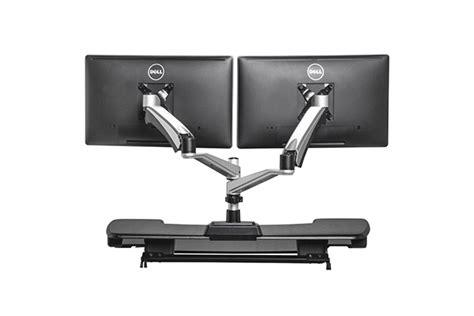 bureaux pour ordinateur bras articulé ergonomique dual pour écran d