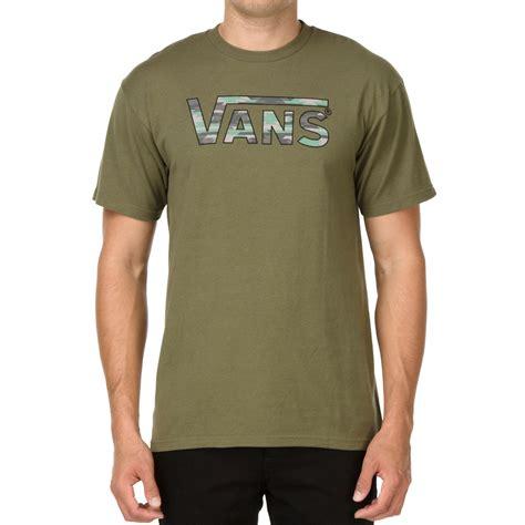 vans classic fill  shirt military green native camo