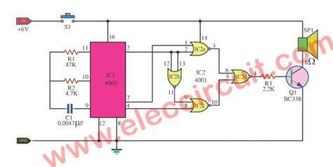 Door Buzzer Sound Circuit Using