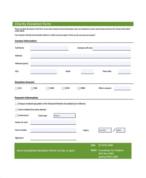 sle donation form 6 documents in pdf word