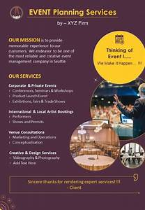 conference planning and event management two page brochure