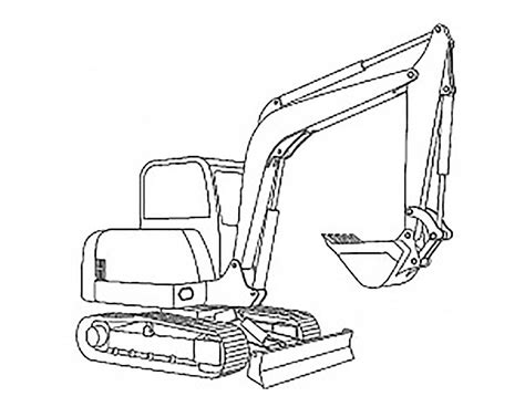 Coloring Excavator by Excavator Coloring Pages