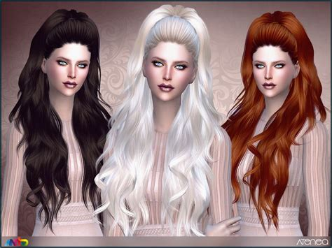 long wavy ponytail   ladies   tsr category