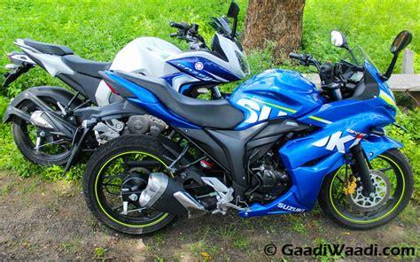 Suzuki Vs Yamaha yamaha fazer fi vs suzuki gixxer sf comparison review