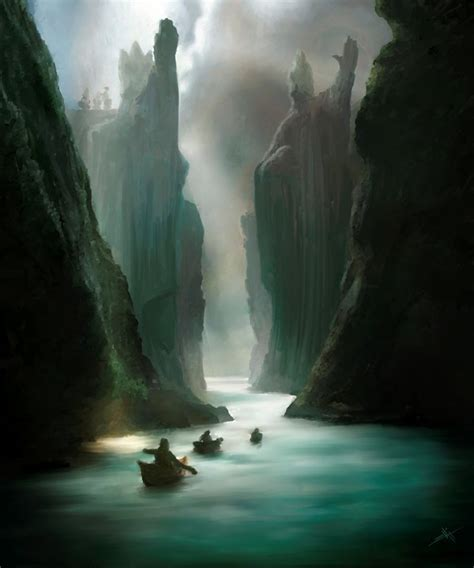 The Argonath By Touchedbyred On Deviantart