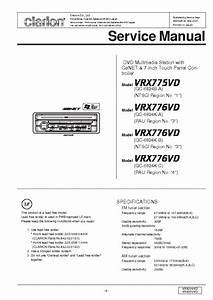 Clarion Vrx775vd 776vd Service Manual Download  Schematics