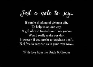 inspirational wedding invitation no gifts just money With wedding invitation how to say no gifts