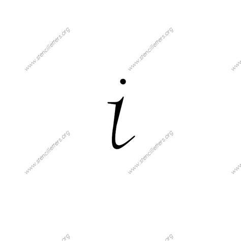 fancy italic uppercase lowercase letter stencils