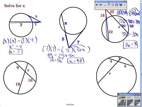Geometry  106 Find Segment Lengths In Circles Youtube
