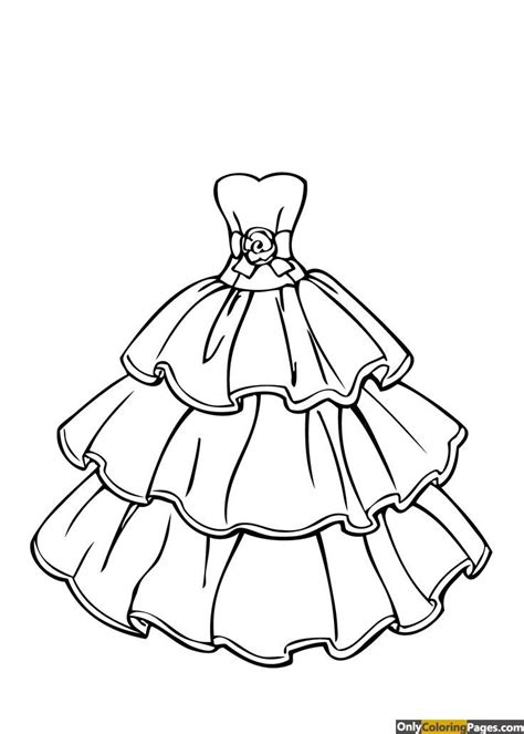 princess dress coloring page ubamjen wedding coloring pages coloring pages  girls barbie