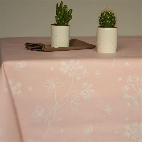 wipe clean table cloth round or oval wipe clean tablecloth astrancia pink by