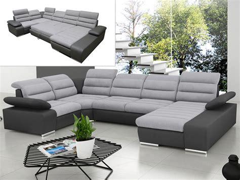 Canape Panoramique - canapé d 39 angle panoramique convertible gris ou bleu boileau