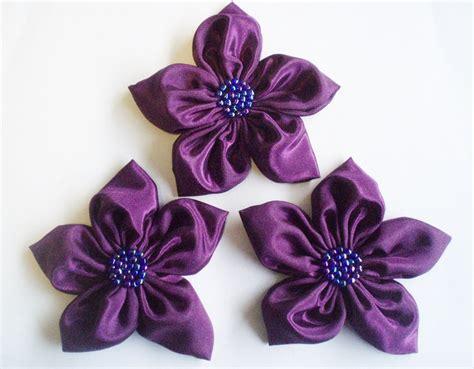 3pcs Colorful Flower Canvas Abstract Painting Print Art: Purple Handmade Appliques Embellishments(3 Pcs) On Luulla