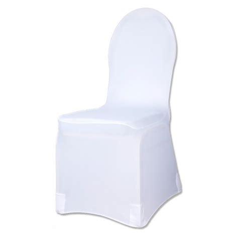 housse de chaise blanche en tissu elastique lycra universelle badaboum