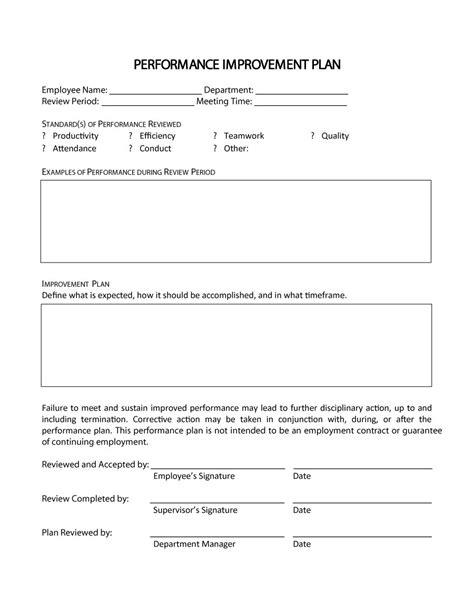 9 printable employee plan exles pdf exles