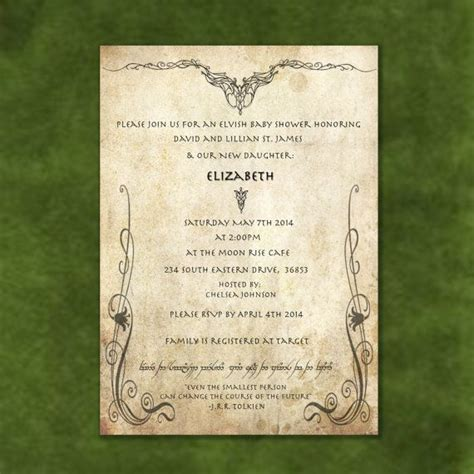 lord   rings wedding invitations part  wedding