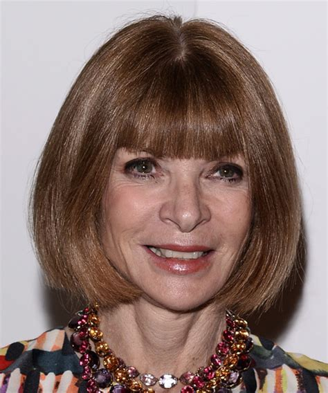 Anna Wintour Medium Straight Formal Bob Hairstyle with