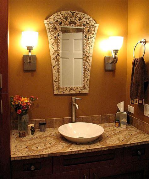 mosaic bathroom  chris zonta mirror  sink top