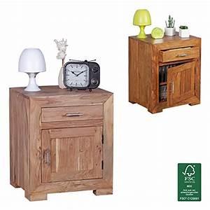 Bett Holz Dunkel : finebuy nachttisch massivholz akazie design nachtkommode 60 cm hoch 50 cm breit schublade t r ~ Markanthonyermac.com Haus und Dekorationen