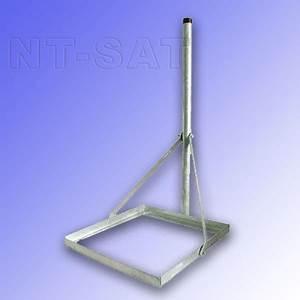 balkonstander fur sat satelliten sat aus stahl sat With feuerstelle garten mit sat standfuß für flachdach und balkon