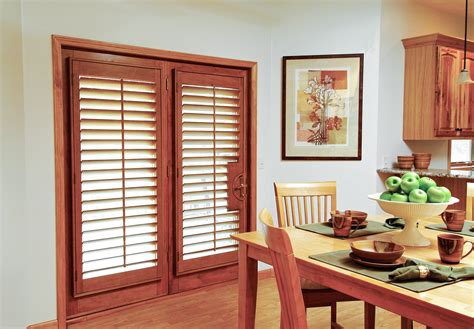 Bedroom Blinds Uk by French Door Shutters For Wooden Interior Patio Doors Uk