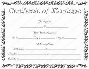 free printable marriage certificate template royal With wedding certificate templates free printable