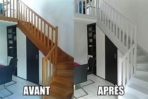 Peindre Escalier En Bois : peindre un escalier en bois escaliers en bois escaliers ~ Dailycaller-alerts.com Idées de Décoration
