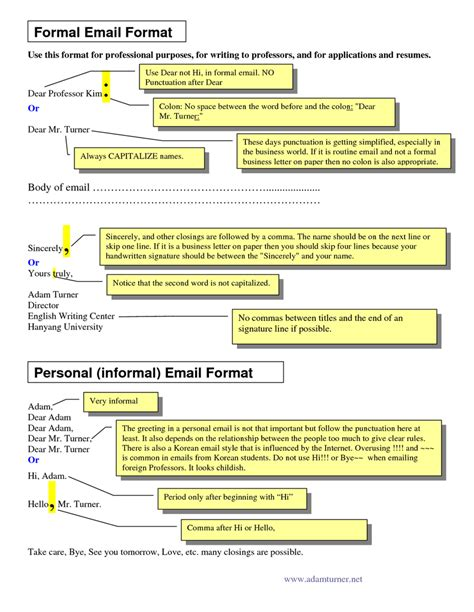 Format Tips by Formal Email Format Image Courtesy Of Docstop Career