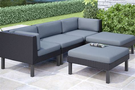 oakland 5 sofa with chaise lounge patio set