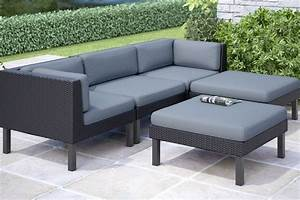 Oakland 5 piece sofa with chaise lounge patio set at for 5 piece sectional sofa with chaise
