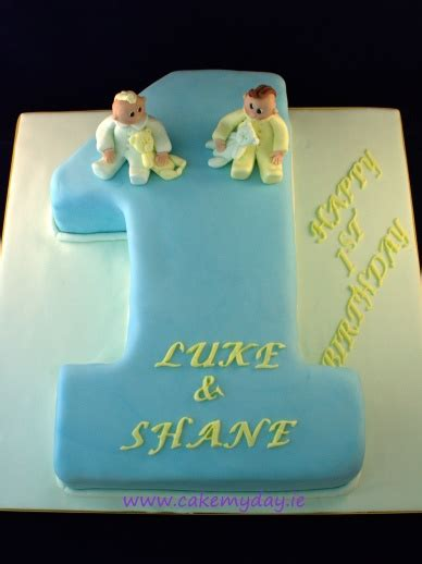 Twin Boys' 1st Birthday Cake Ideas   Best Birthday Cakes