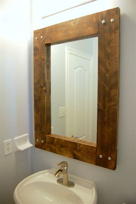 How To Make A Frame For A Bathroom Mirror by Diy How To Make Your Own Rustic Farmhouse Mirror