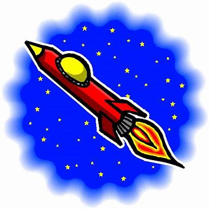 Rocket Clip Space Clipart Cliparts Funny Science