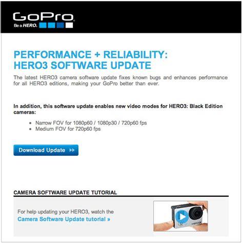 gopro hero software update performance reliability cheesycam