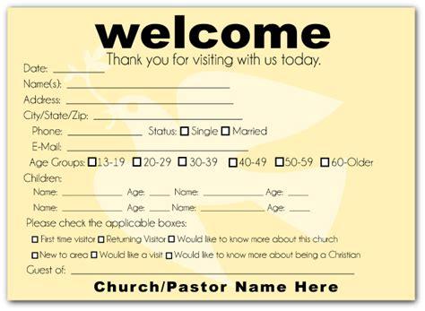 church visitor card template modern dove welcome visitor postcard church admin stuff churches church ideas